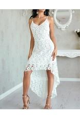 High Low Crochet Slip Dress