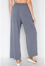 SLATE WIDE LEG HIGH-WAIST PANTS