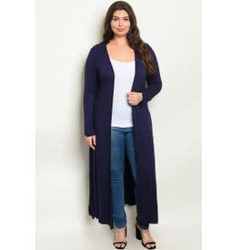 Long Sleeve Navy Cardigan Sweater