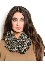 Black and Tan Infinity Scarf