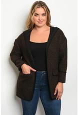 Brown Plus Jacket