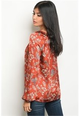 Fire Floral Tunic