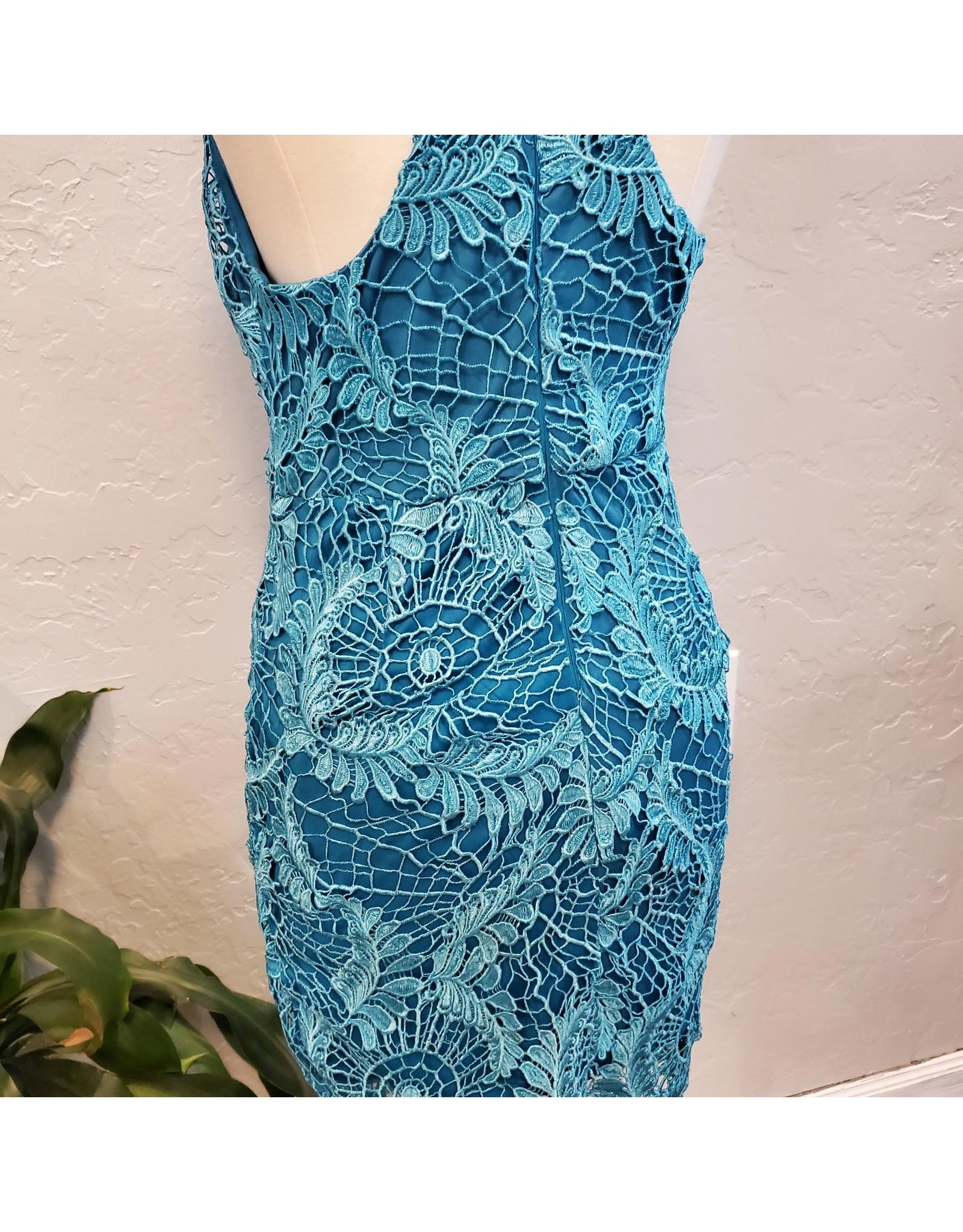Turquoise Crochet Dress