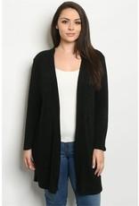 Black Plus Size Cardigan
