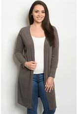 Mocha Plus Size Cardigan
