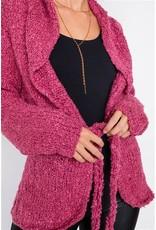 Brushed Knit Cotton Cardigan