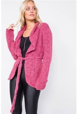 Profile Apparel Cozy Brushed Knit Cotton Cardigan with Shawl Collar