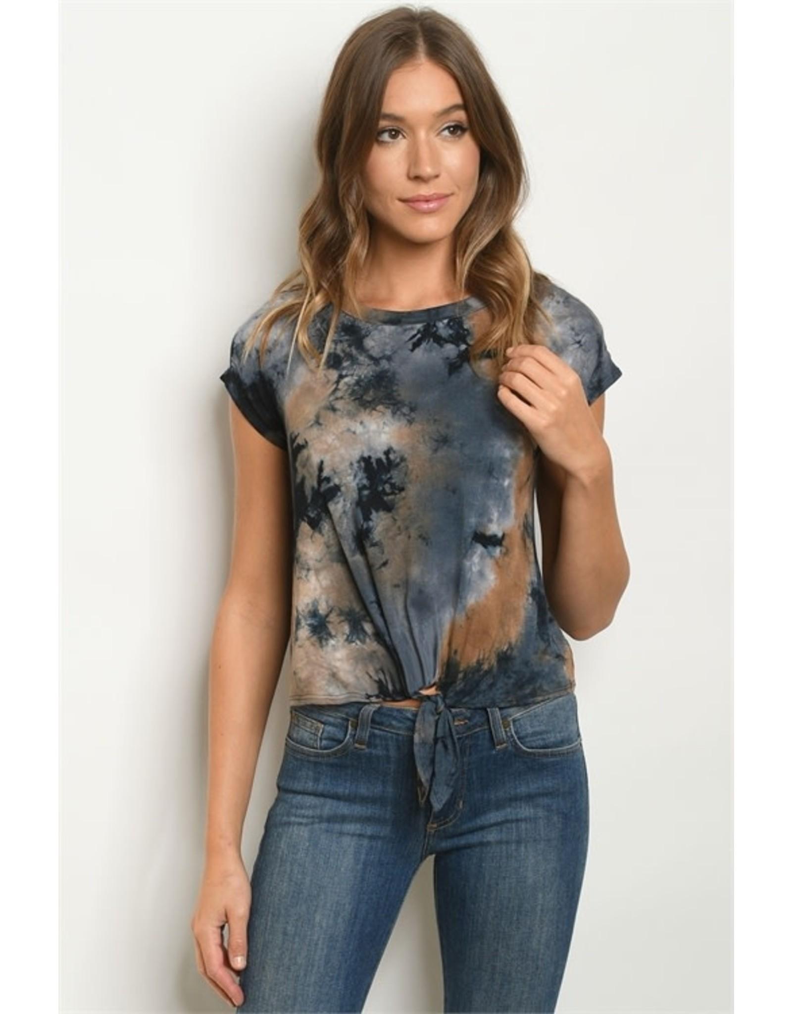 Tie-dye Tie-knot Short Sleeve T-Shirt