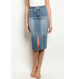 Pencil Denim Skirt