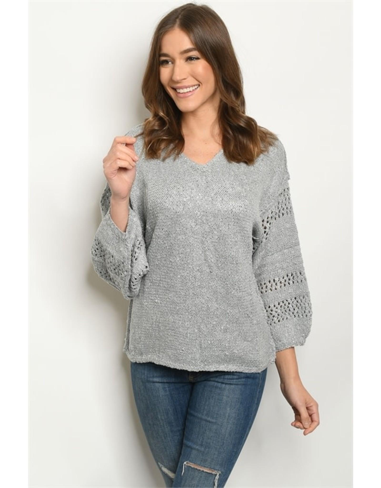Long Sleeve Drop Shoulder Sweater