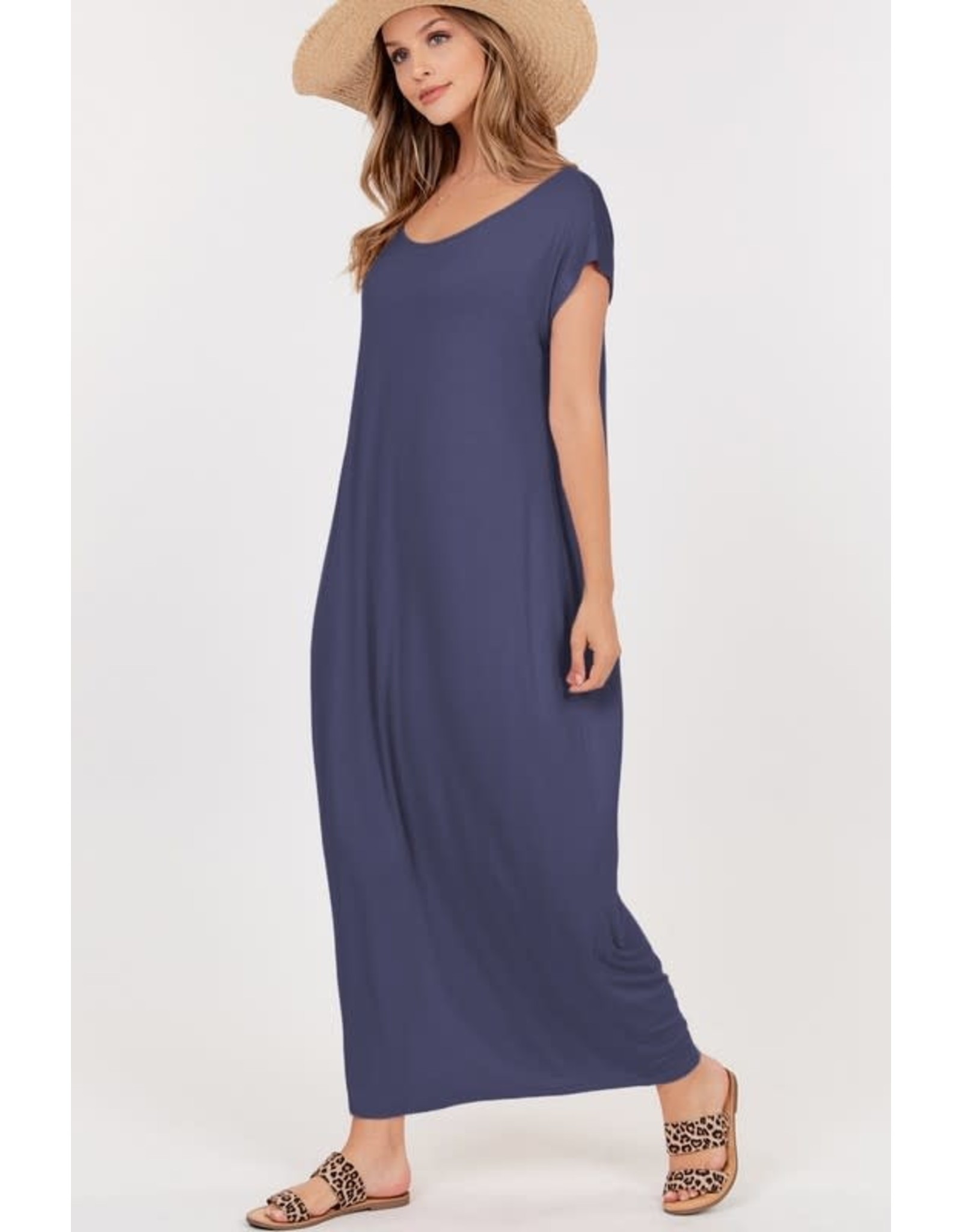 Boat Neck Maxi Dress