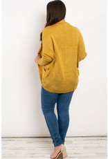 Long sleeve open front round hem cashmere cardigan