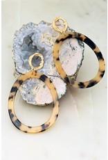 Tortoise/Leopard Resin Oval Hoop Earrings