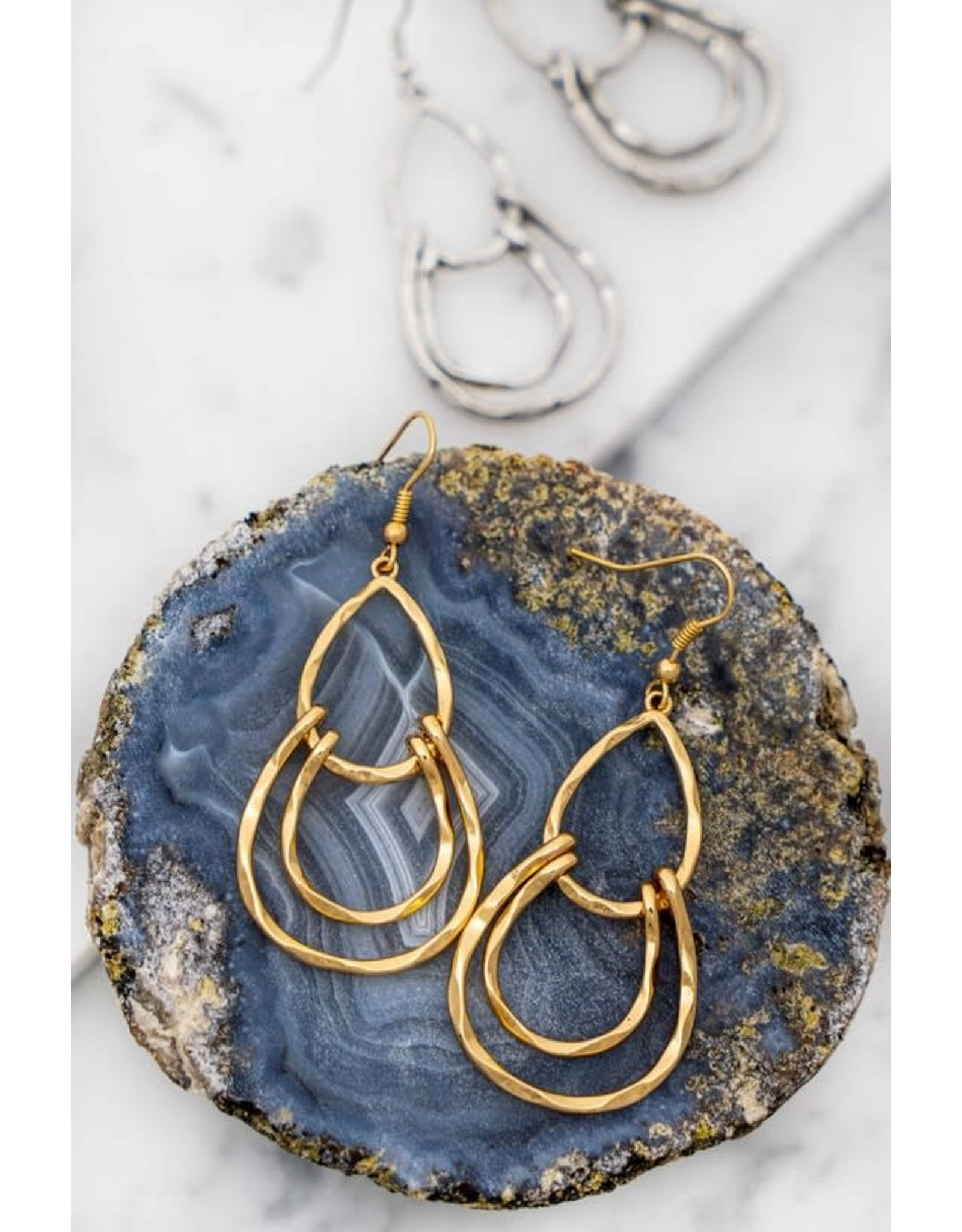 HAMMERED CASTING EARRINGS
