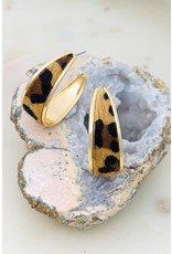 """Size: 1.75"""" Diameter Hoop Thickness: 0.5"""" Medium Size Wide Hoop Animal Print Earrings"""