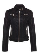Palomares Plus Black Faux Leather Jacket