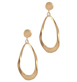 Matte Gold Teardrop Earring