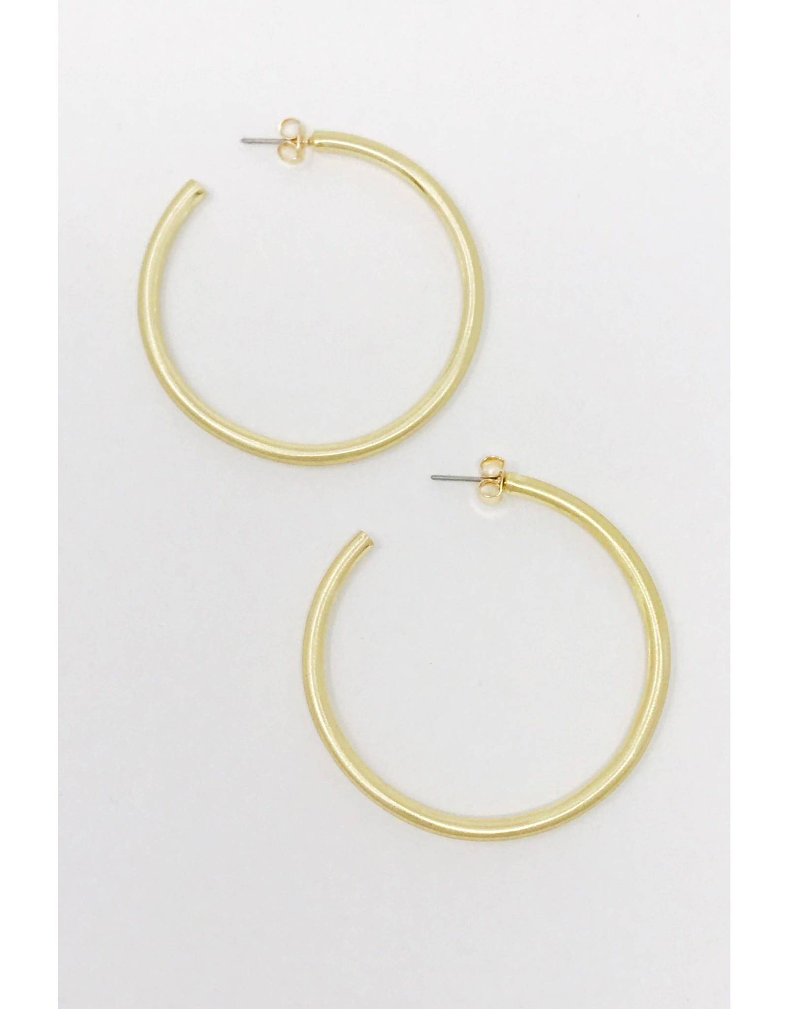 Jade Satin Finish Hoop Earrings