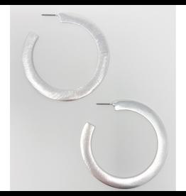 Silver Alma Hoop Earrings
