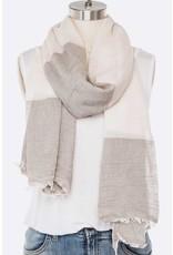 Cotton Mix Stripe Scarf Length