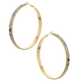Animal Print Leatherett Hoop Earrings Lead Compliant