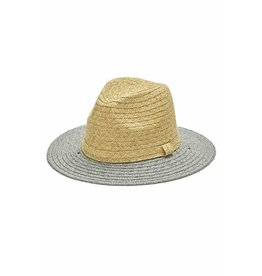 FASHION STRAW TWO TONE PANAMA HAT
