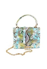 Multi Color Snake Skin Crossbody