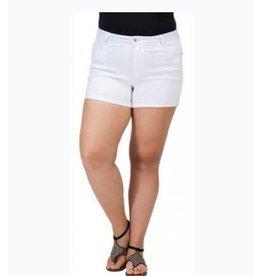 Plus White Denim Shorts