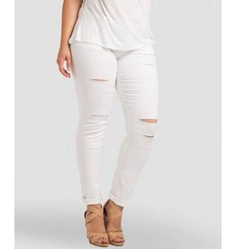 Plus White Skinny Pants