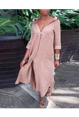 Maxi Button Down Gauze Shirt Dress