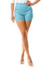Scalloped Waist Hot Shorts
