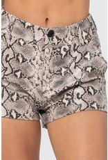 Snakeskin Print Shorts