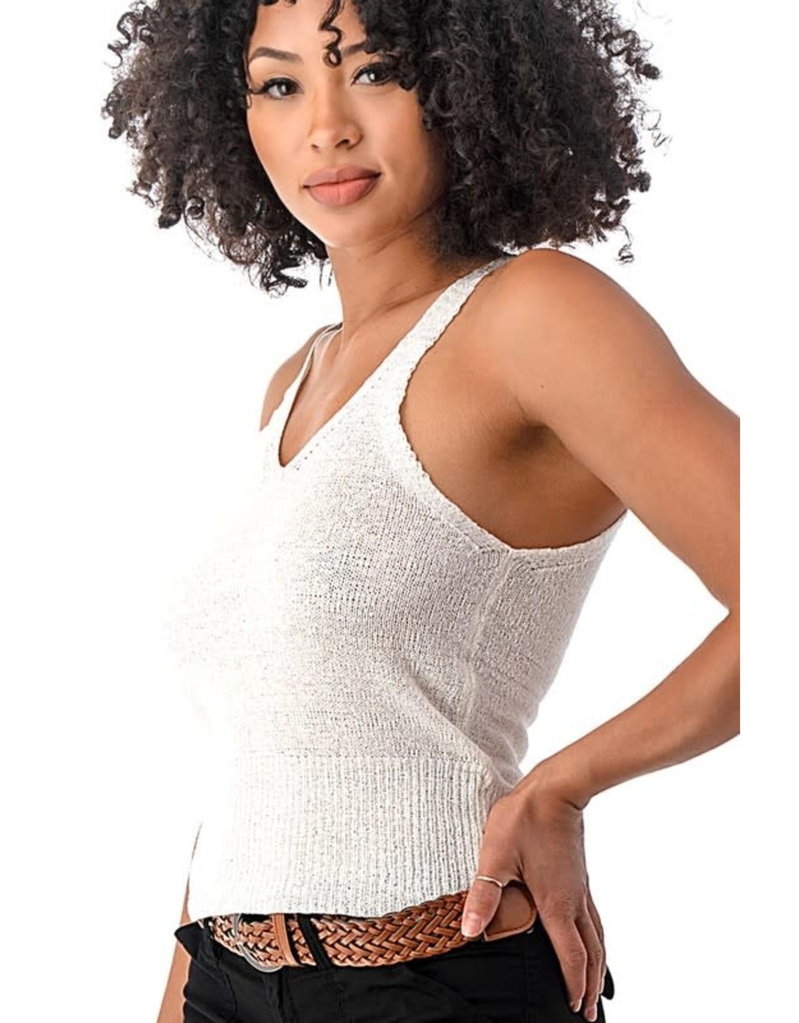Semi Sheer Sleeveless Sweater