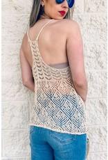 Sheer Knit Textured Cami