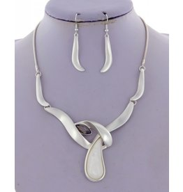 Acrylic Necklace and Earring Set