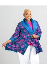 Jerry T Reversible Crinkle Jacket with Shawl Collar
