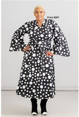 Kara Chic Maxi Wrap Dress with Bell Sleeves