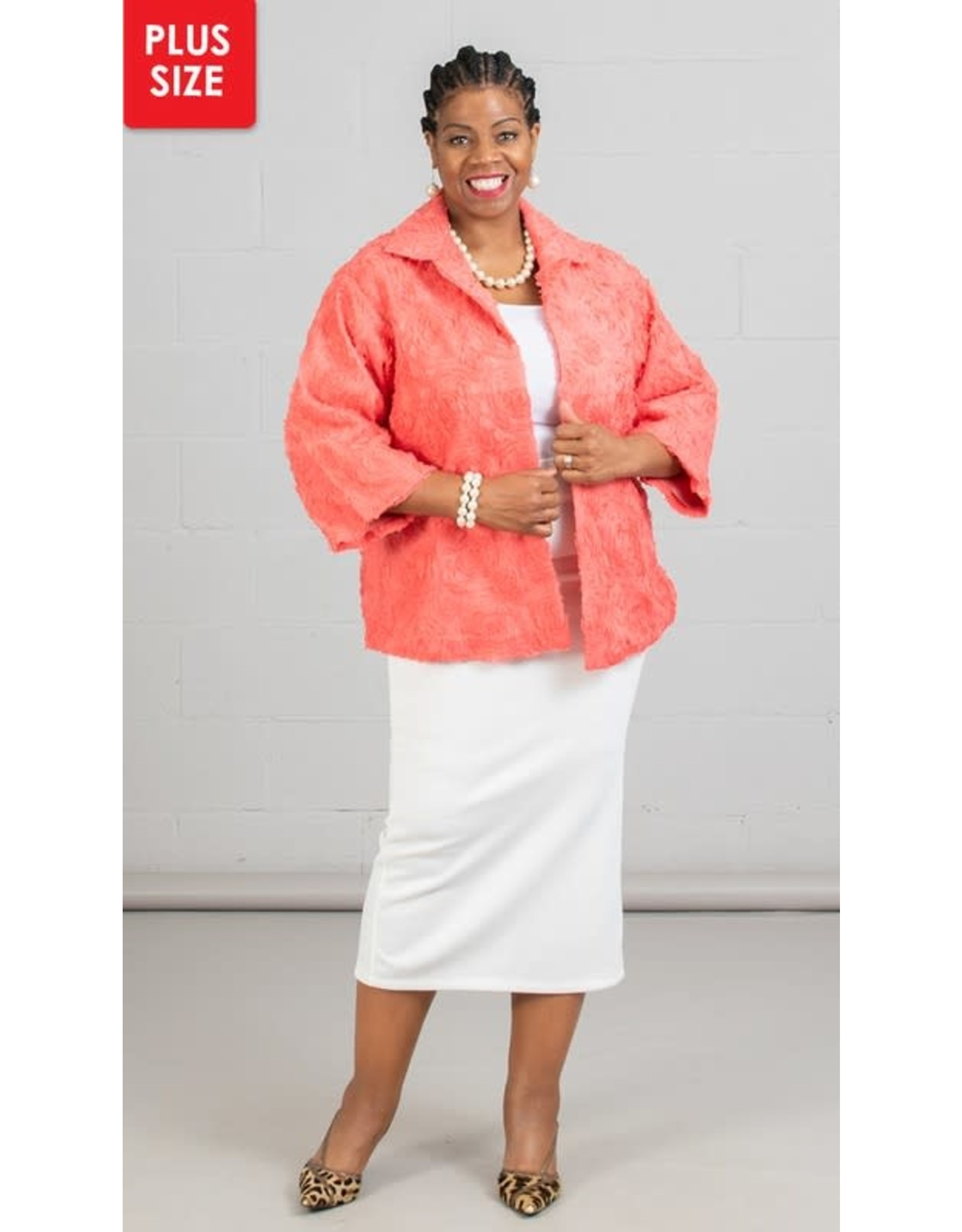 Jerry T Flower Embellished Jacket with Notch Collar