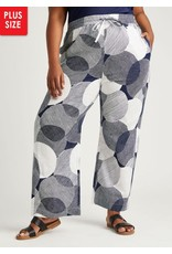 Dubgee Navy and White Tie Waist Pants