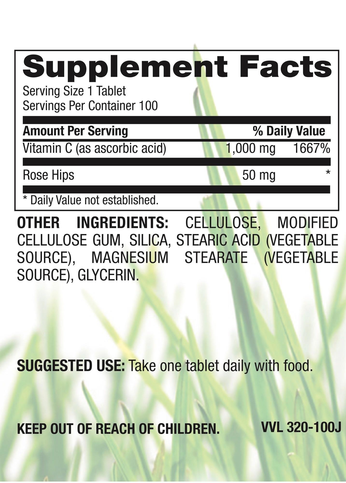 Vitamin C Plus Rose Hips 1,000mg-2