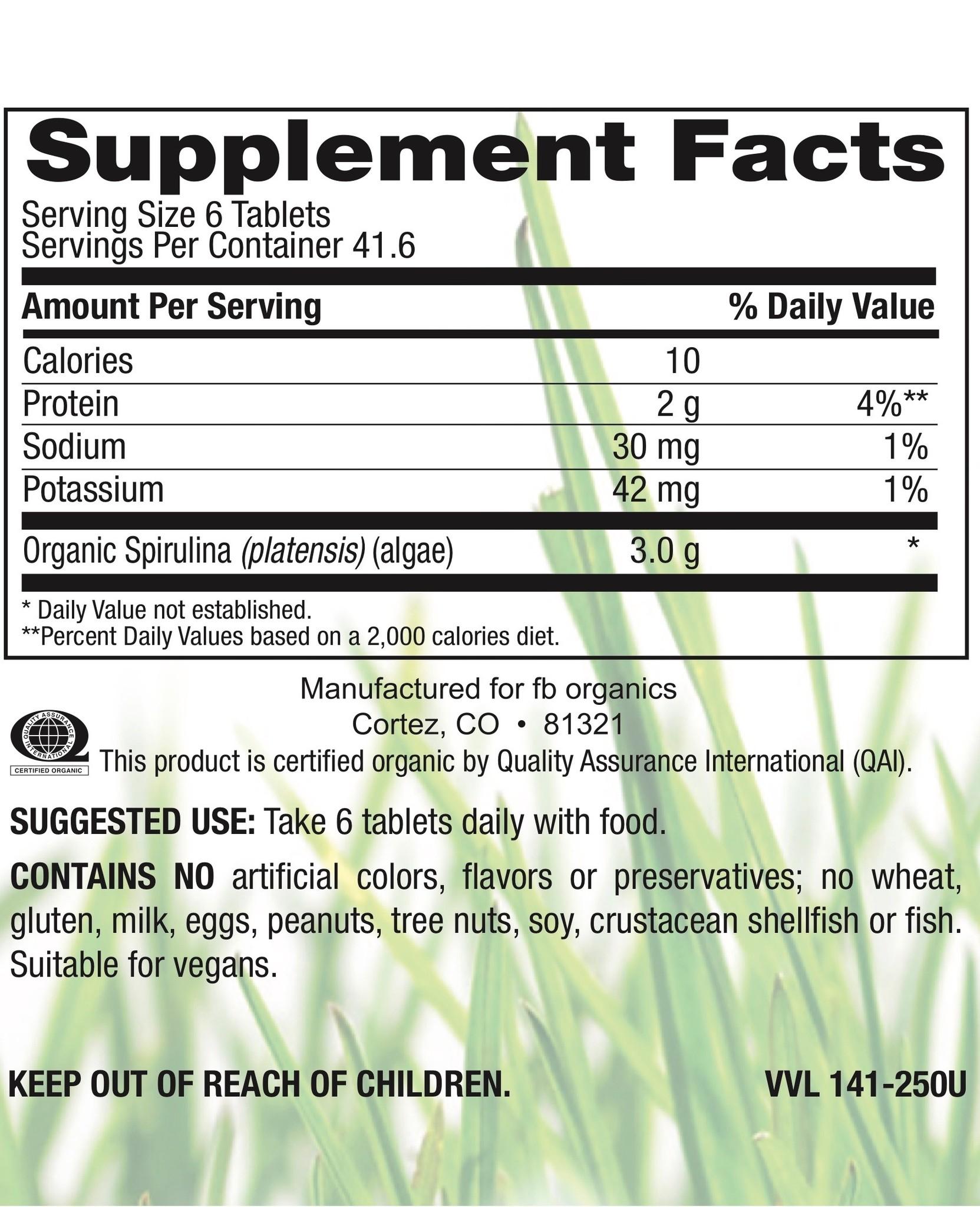 Organic Spirulina 500 mg-2