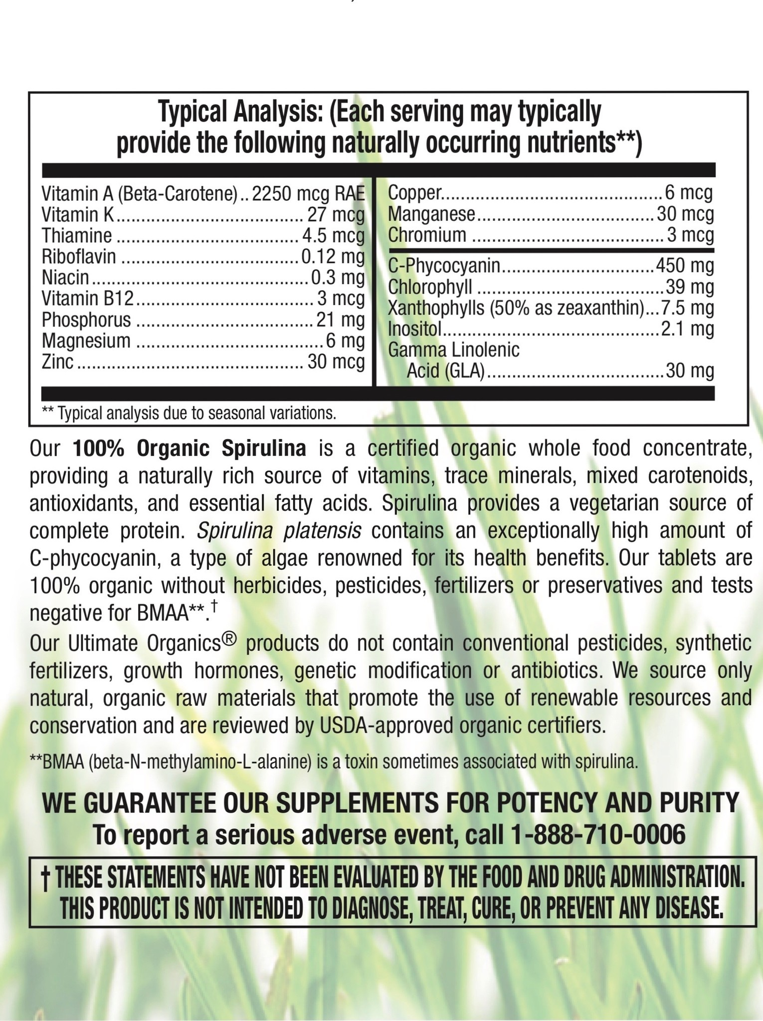 Organic Spirulina 500 mg-3