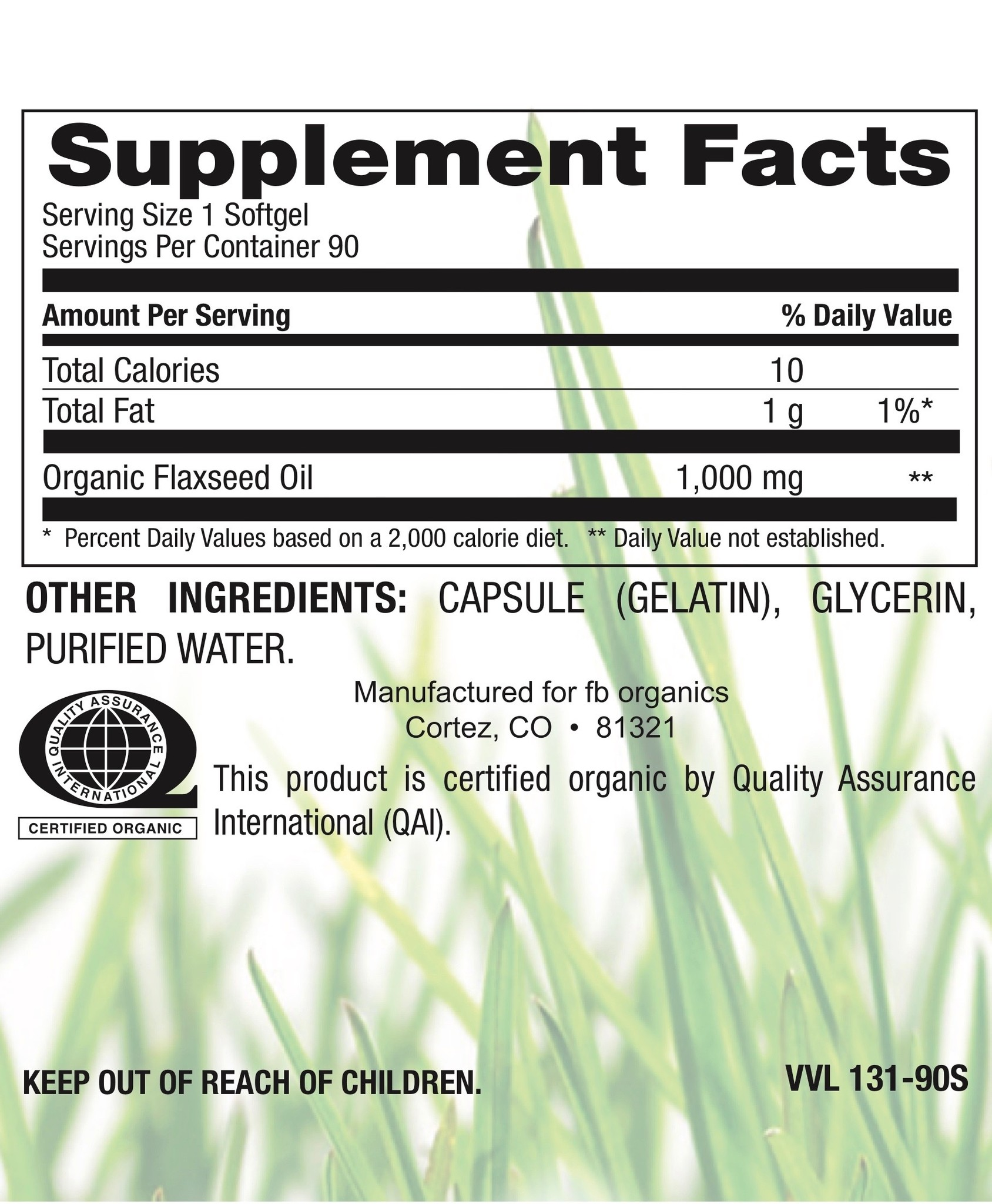 Organic Flaxseed Oil 1,000mg-2