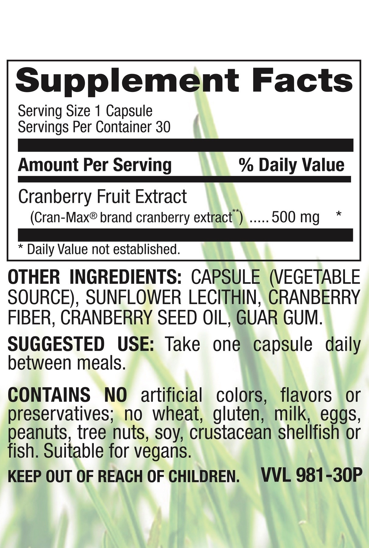 Organic Cranberry 500 mg-2