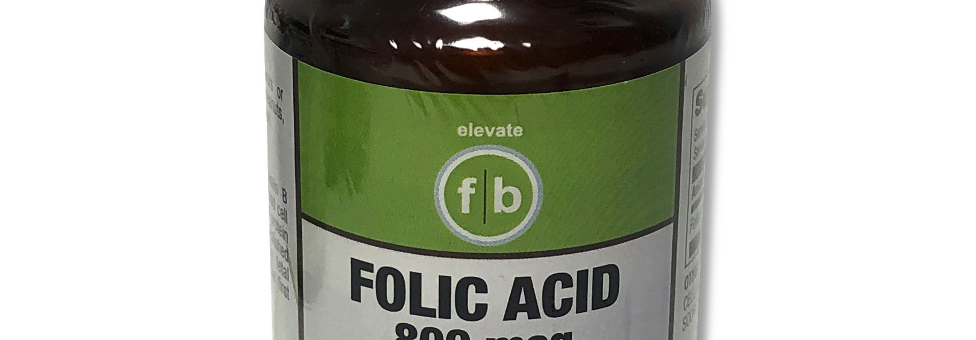 Folic Acid 800mg/100 Vegetarian Tablets