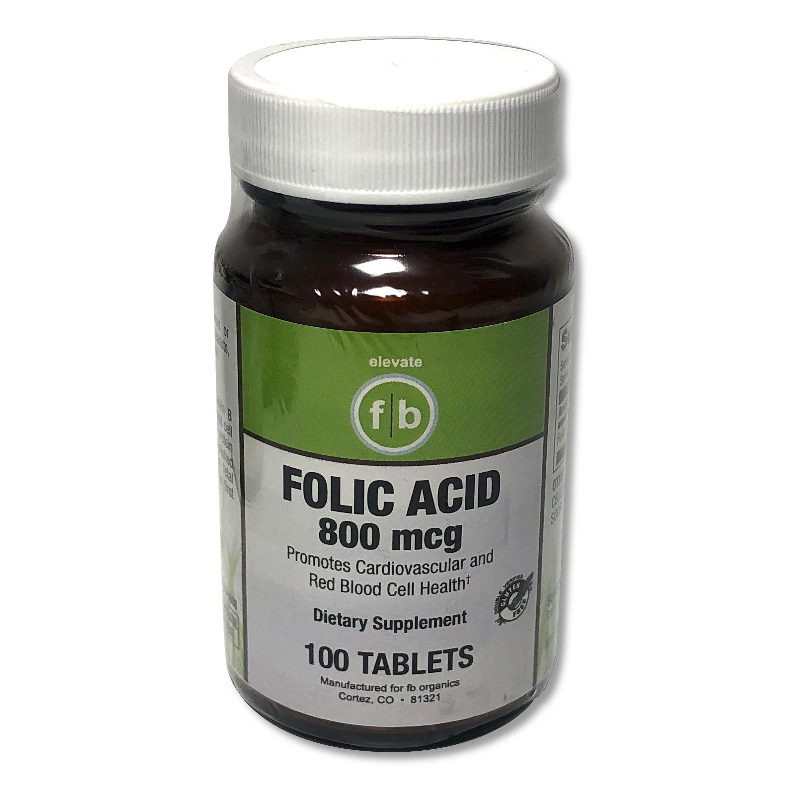 Folic Acid 800mg/100 Vegetarian Tablets-1