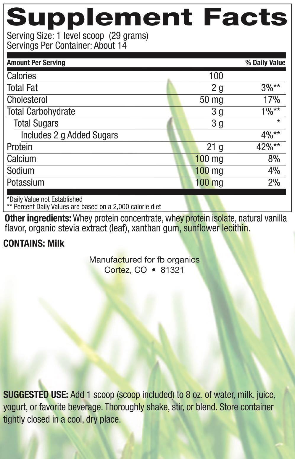 Grass Fed Whey Vanilla-2