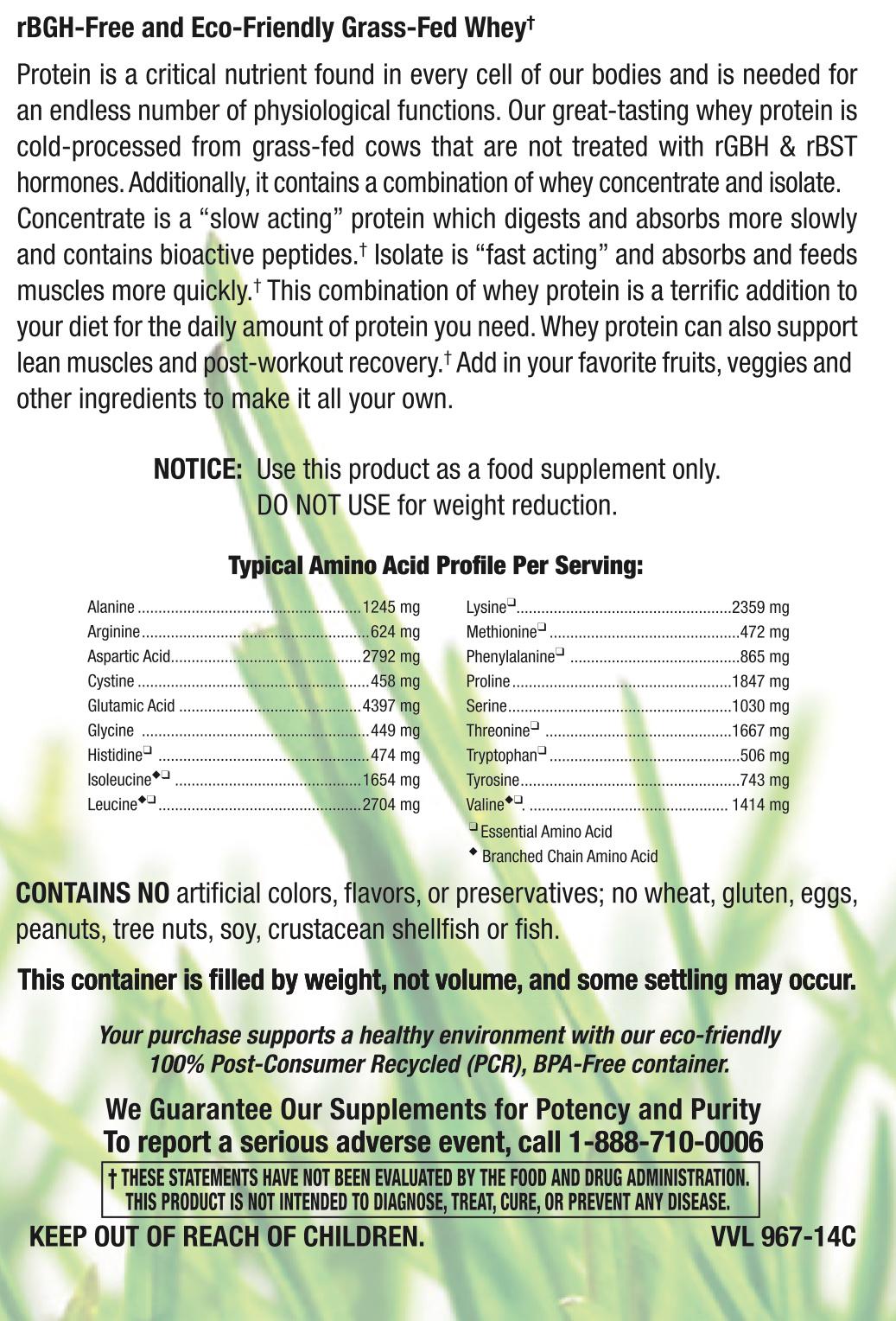 Grass Fed Whey Vanilla-3