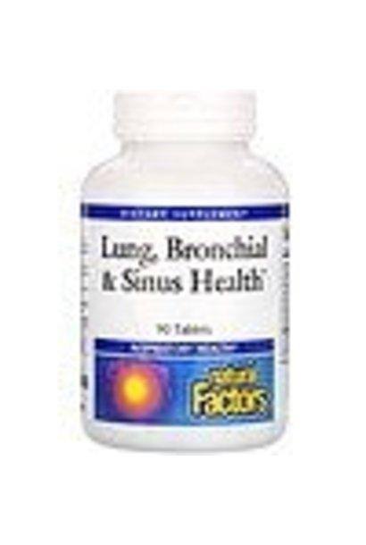 NATURAL FACTORS LUNG, BRONCHIAL, & SINUS HEALTH 90tab