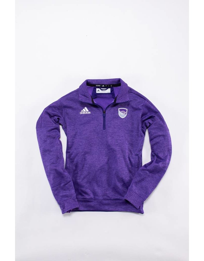 Adidas heathered 1/4 zip